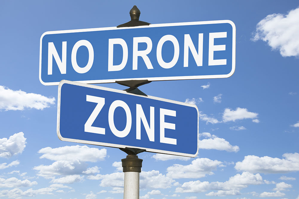 No Drone Zone Street Sign