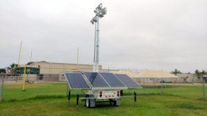 american cancer association event solar LED light tower trailer