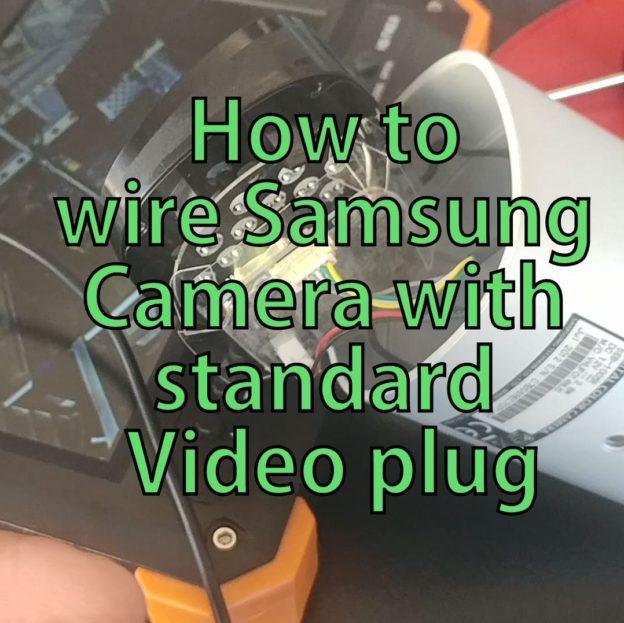 Samsung CCTV Camera wiring